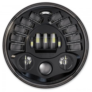 "J.W. Speaker 7"" LED Black Adaptive 2 Series Headlight - 0555011 