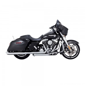 "Vance & Hines Twin Slash 4"" Round Slip Ons Chrome - 16763 