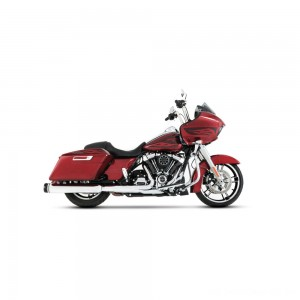 "Rinehart Racing MotoPro 45 4.5"" Slip-On Mufflers Chrome with Black End Cap - 500-0108 