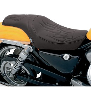 Drag Specialties Predator Seat with Flame Stitch - 0804-0385 | |  Hot Sale