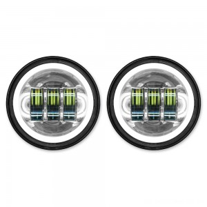 "HogWorkz LED 4.5"" Chrome HaloMaker Auxiliary Passing Lights - HW195205 