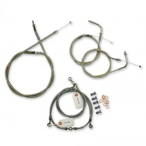 LA Choppers Stainless Cable/Brake Line Kit for 12″-14″ Bars - LA-8005KT-13 | |  Hot Sale