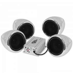 "Boss Audio Systems 1000 Watt Bluetooth 3"" Chrome Speaker Kit - MC470B 