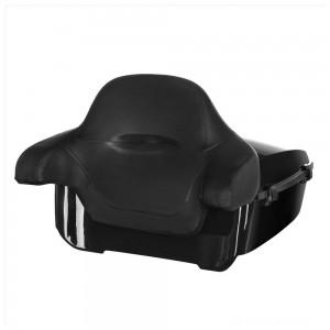 HogWorkz Vivid Black King Tour Pack w/ Full Backrest - Black Hardware - HW229510 | |  Hot Sale
