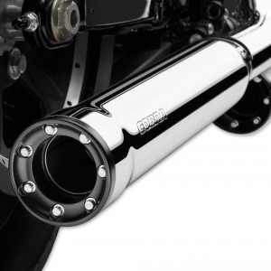 "Cobra 3"" RPT Slip On Mufflers Chrome - 6070 