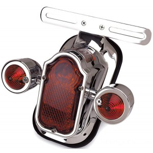 J&P Cycles LED Tombstone Taillight with Red Turn Signals | |  Hot Sale