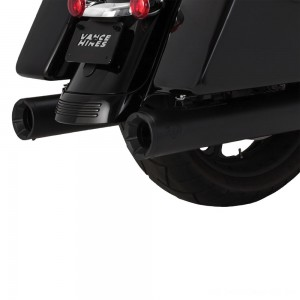 Vance & Hines Eliminator 400 Slip Ons Black with Black End Caps - 46714 | |  Hot Sale