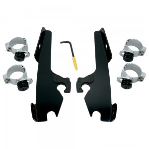 Memphis Shades Fats/Slims/Batwing Fairing Black Trigger Lock Mount Kit - MEB8968 | |  Hot Sale