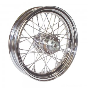 "V-Factor Complete 40 Spoke Chrome Rear Wheel, 16 x 3"" - 51645 