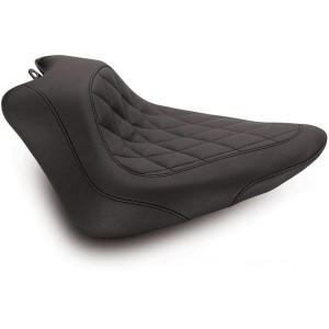 Mustang Black Wide Tripper Solo Seat with Diamond Stitching - 76762 | |  Hot Sale