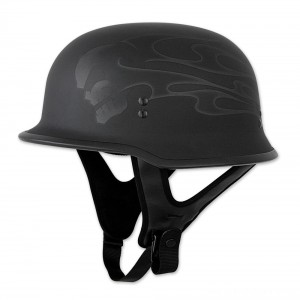 FLY Racing Street 9MM Ghost Flame Black Half Helmet - 73-8222X | |  Hot Sale