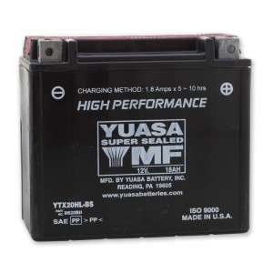 Yuasa High-Performance Maintenance Free Battery - YTX20HL-BS replaces type YTX20L-BS | |  Hot Sale