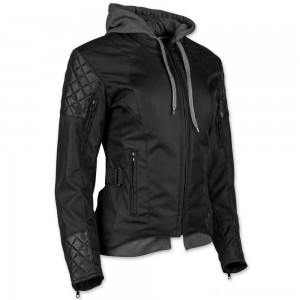 Speed and Strength Women's Double Take Black Textile/Leather Jacket - 884303 | |  Hot Sale