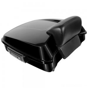 HogWorkz Vivid Black Rushmore Chopped Tour Pack with Slim Backrest and Black Hardware - HW229910      Hot Sale