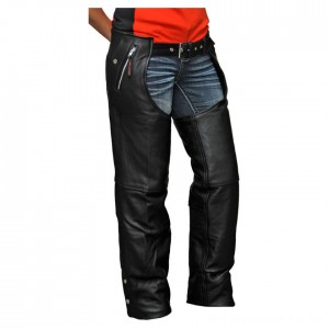 Vance Leathers Unisex Four Pocket Black Leather Chaps - VL811TG-XL | |  Hot Sale