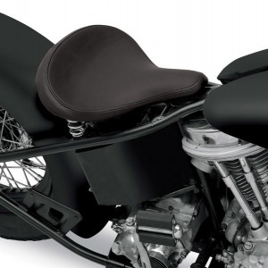 Drag Specialties Large Spring Solo Seat with Black Solar-Reflective Leather Smooth - 08060052      Hot Sale