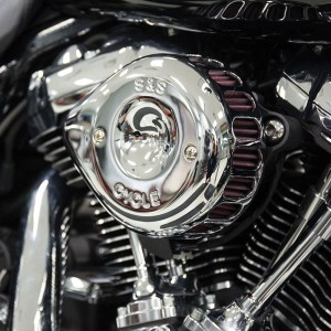 S&S Cycle Mini Teardrop Stealth Air Cleaner Chrome - 170-0435A | |  Hot Sale