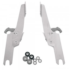 Memphis Shades Fats/Slims/Batwing Fairing Polished Trigger Lock Mount Kit - MEK1913 | |  Hot Sale