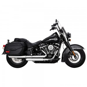 "Vance & Hines Twin Slash 3"" Round Slip Ons Chrome - 16879 