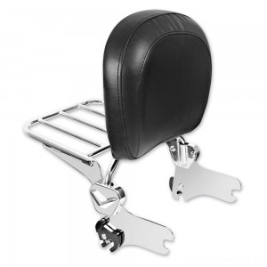 HogWorkz Quick Detachable Chrome Sissy Bar Backrest with Luggage Rack - HW157222 | |  Hot Sale