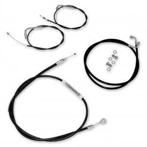 LA Choppers Black Cable/Brake Line Kit for 12″-14″ Bars - LA-8005KT-13B | |  Hot Sale
