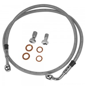 Twin Power Front Stainless Steel Braided Brake Line Kit Stock Length - 035851 | |  Hot Sale