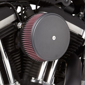 Arlen Ness Black Finish Stage I Big Sucker Kit Smooth Steel Cover - 18-326 | |  Hot Sale