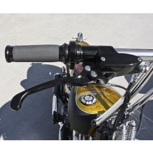 Performance Machine Black Ano Contour Grips - 0063-2007-B | |  Hot Sale