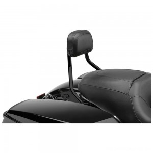 "Cobra Black Quick Detachable 14"" Round Bar Sissy Bar with Backrest - 602-2200B 