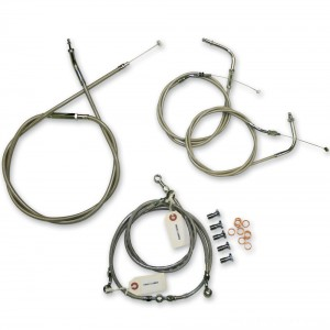 LA Choppers Stainless Cable/Brake Line Kit for 12″-14″ Bars - LA-8100KT-13 | |  Hot Sale