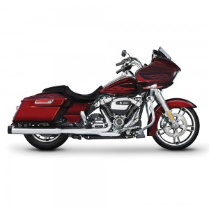 "Rinehart Racing 4"" Slip-On Mufflers Chrome with Black End Caps - 500-0106 