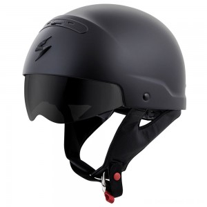 Scorpion EXO Covert Matte Black Half Helmet - COV-0106 | |  Hot Sale