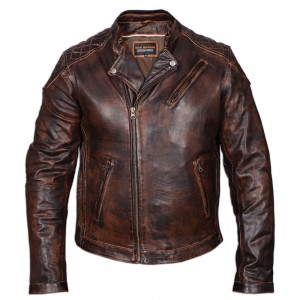 Vance Leathers Men's Classic Lightweight Vintage Brown Leather Jacket - HMM521VB-XL | |  Hot Sale