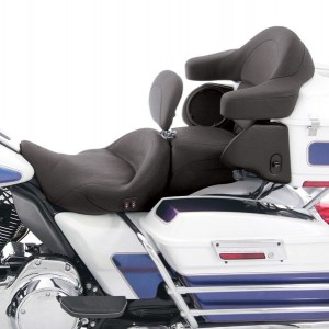 Mustang Heated Super Touring Seat Plain with Driver Backrest - 79643 | |  Hot Sale