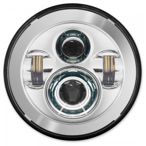HogWorkz 7″ LED Daymaker Chrome Headlight Kit - HW195001 | |  Hot Sale