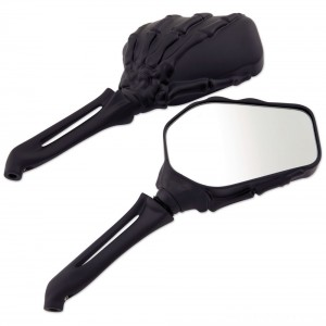 Milwaukee Twins Black Hand Bone Mirrors - 18-353 | |  Hot Sale