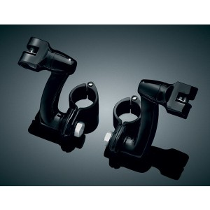 Kuryakyn Gloss Black Longhorn Offset Peg Mounts - 7571 | |  Hot Sale
