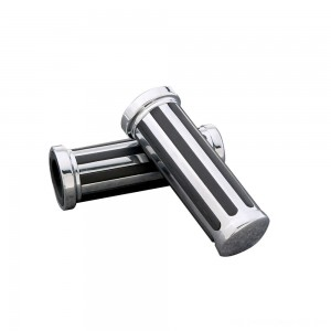 J&P Cycles Custom Black/Chrome Grip Set | |  Hot Sale