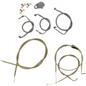 LA Choppers Stainless Cable/Brake Line Kit for 12″-14″ Bars - LA-8220KT-13 | |  Hot Sale