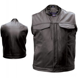 Allstate Leather Inc. Men's Concealed Carry Leather Vest - AL2230-LG | |  Hot Sale
