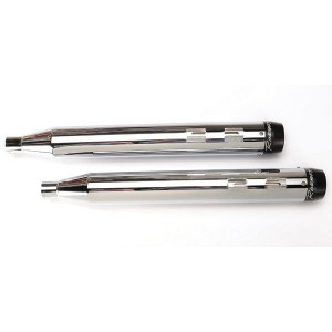 Rinehart Racing 3-1/2″ Slip-On Mufflers Chrome with Black End Caps - 500-0100 | |  Hot Sale