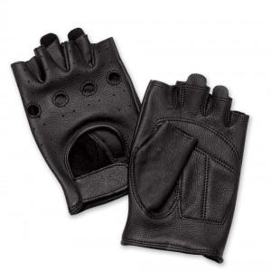 J&P Cycles Fingerless Deerskin Gloves with Easy-Pull Tabs - NG545EZP | |  Hot Sale