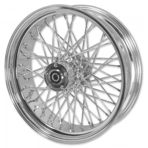 "V-Factor Complete 40 Spoke Chrome Rear Wheel, 16 x 3"" - 51646 