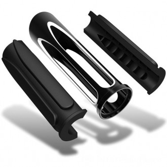 Arlen Ness Black Deep Cut Comfort Grips - 07-053      Hot Sale