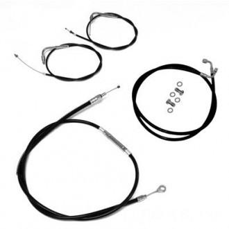 LA Choppers Black Cable/Brake Line Kit for 12″-14″ Bars - LA-8100KT-13B | |  Hot Sale