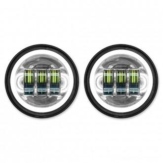 "HogWorkz LED 4.5"" Chrome HaloMaker Auxiliary Passing Lights - HW195205 | |  Hot Sale"