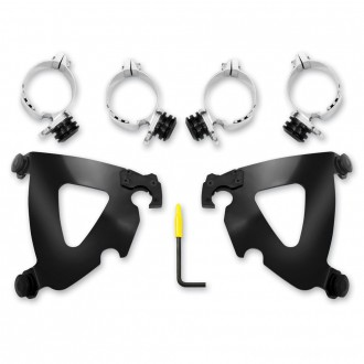 Memphis Shades Road Warrior Fairing Black Trigger Lock Mount Kit - MEB2028 | |  Hot Sale