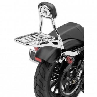 "Cobra Chrome Quick Detachable 14"" Round Bar Sissy Bar with Backrest - 602-2005 | |  Hot Sale"