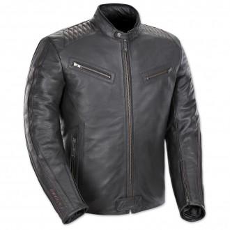 Joe Rocket Men's Vintage Rocket Black/Black Leather Jacket - 1680-1005      Hot Sale