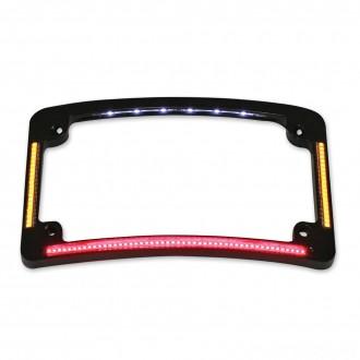 Custom Dynamics Black All-In-One Radius License Plate - TF05-B | |  Hot Sale